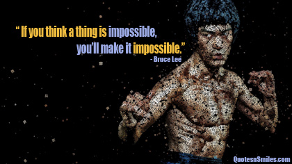 10 Impossible Bruce Lee Picture Quote